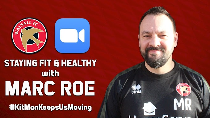 Walsall Kit Man's Fitness Sessions to Return in Aid of the NHS