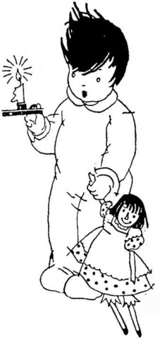 boy in pajamas coloring page  free printable coloring pages