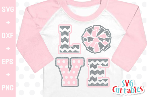 Download Free Love Cheer | Cheer SVG Cut File Crafter File