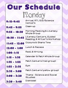 Homeschool Daily Schedule Kindergarten - Calendar June