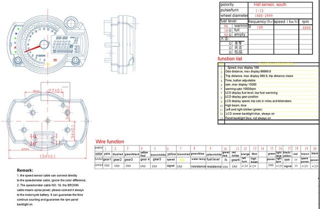 Wiring Diagram Speedometer Koso Rx2n Replica