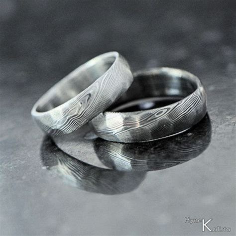 Damascus Wedding Band, mens ring, womens ring, simple