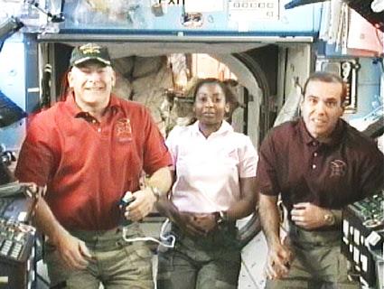 STS-131 crew members
