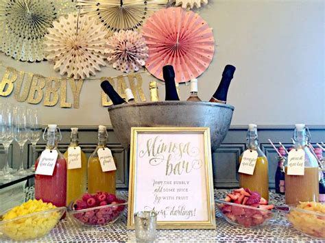 Bubbly Bar, Blush, Pink & Gold Bridal/Wedding Shower Party