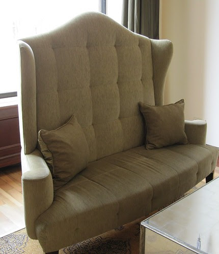 high-back loveseat