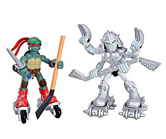 Playmates TMNT :: Mini Mutants // Extreme Sports Raph & Shiva - Shredder [[ Playmates TMNT Site  ]]