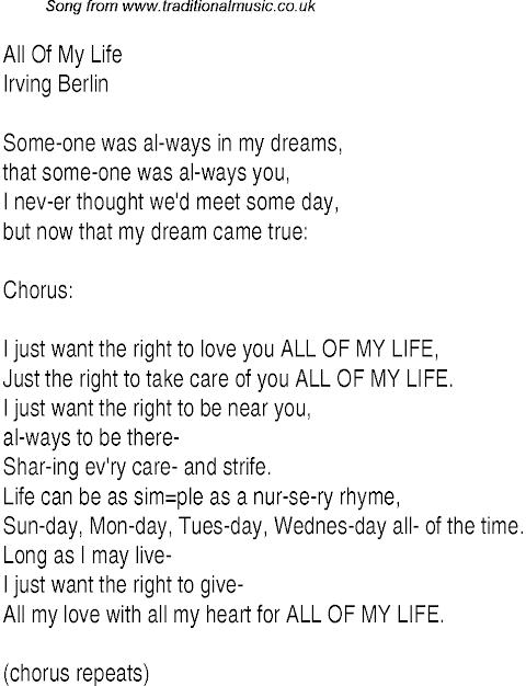 All Of My Life Lyrics