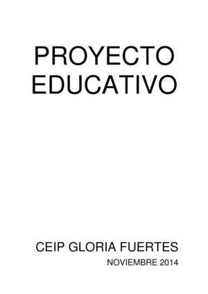 Proyecto Educativo Ceip Gloria Fuertes (Jaén)