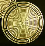 Art Deco concentric circle cufflinks. (J8612)