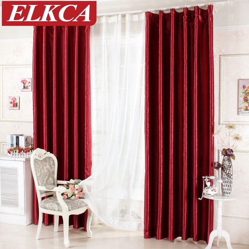 Beautiful Red Living Room Curtains images