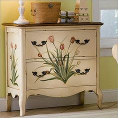 decorated furniture diy on Pinterest
