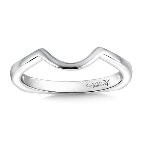 Caro74 14K White Gold Wedding Band (HCR168BWJ)   Hannoush
