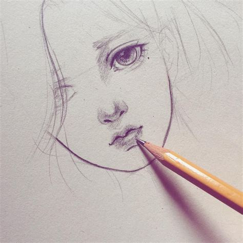 sketch sketch pencil manga anime art artwork