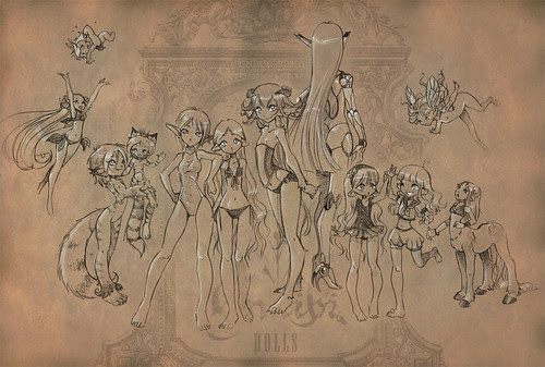 doll family Illustration