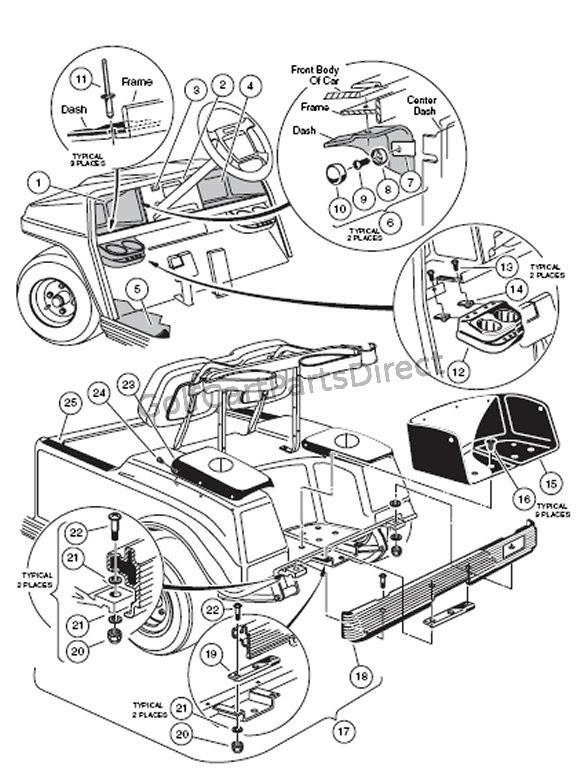 Club Car Parts Diagram
