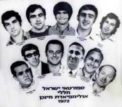 Le vittime della strage di Monaco del 1972.