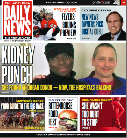 Blog: Philadelphia Daily News: the new front page is here × García ...
