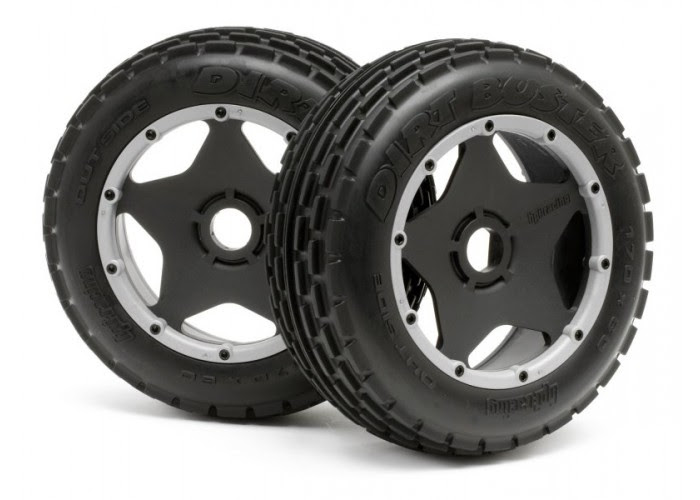 Dirt Buster Rib Tire Front Wheel Set