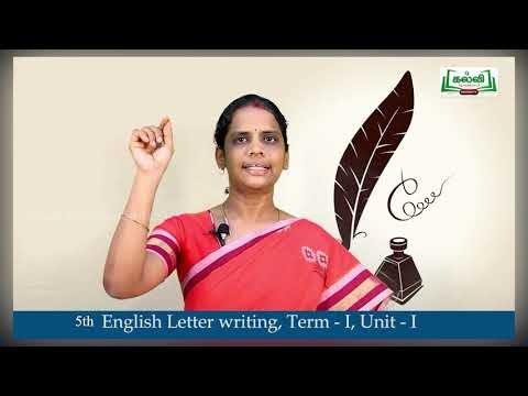 5th English English Unit 1 Part 1 Kalvi TV