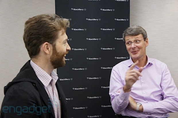 The Engadget Interview Thorsten Heins on BlackBerry 10, QWERTY keyboards and the changing culture at RIM video