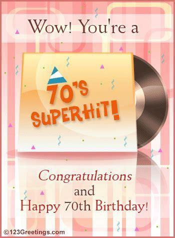A 70th Birthday Wish! Free Milestones eCards, Greeting