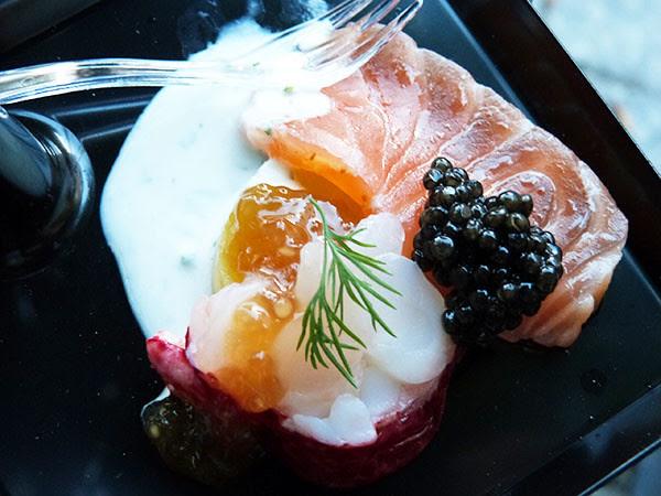 médaillon de homard, crème iodée à l'aneth