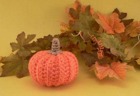 realistic crocheted pumpkin by planetjune