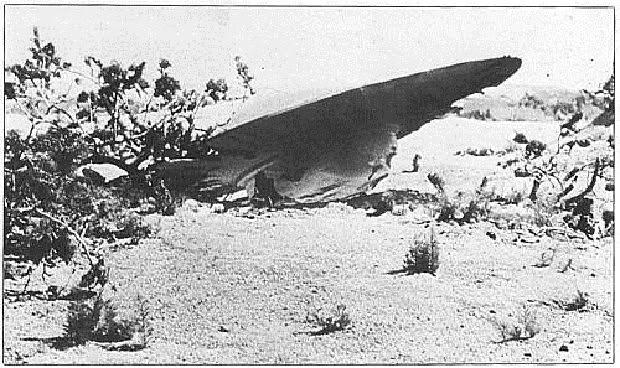 """Suposto disco voador envolvido no """"Incidente com OVNI em Roswell"""" (Foto: Reprodução/Portal UFO Net)"""