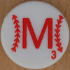 Major League Baseball Scrabble Letter M