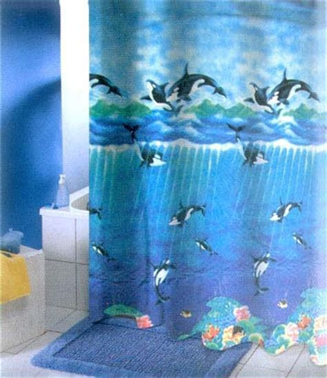 Orca Whale Shower Curtain   Dolphins Unlimited