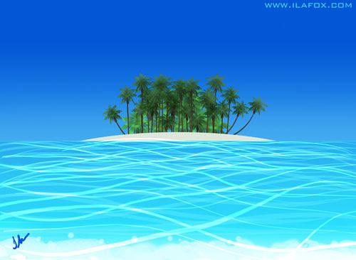 30 Day Drawing Challenge, a place you want to go, Desafio dos 30 dias de desenho, um lugar que eu quero ir, ilhas maldivas, by ila fox