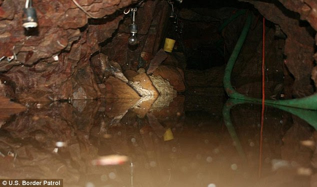 Resourceful: Authorities have found eight similar tunnels in the last six months