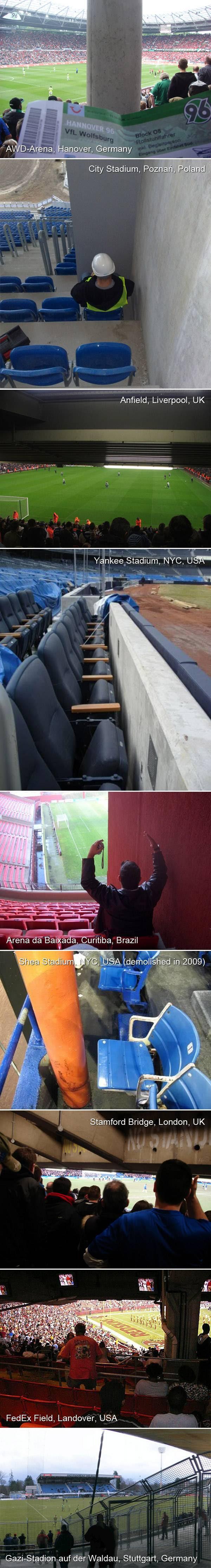 Stadium seating fails around the world