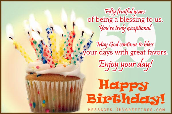 Happy 50th Birthday Sayings Quotes
