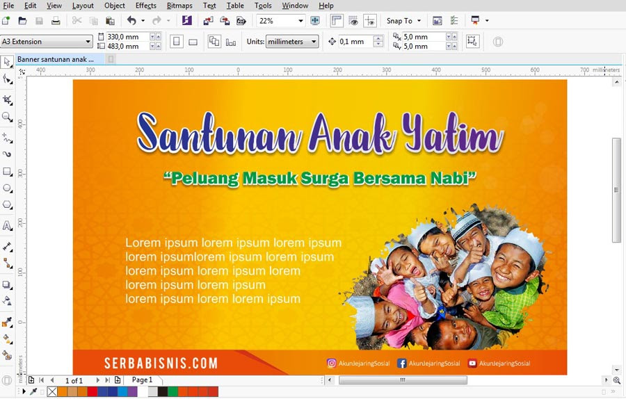 Banner Spanduk Santunan Anak Yatim – SerbaBisnis