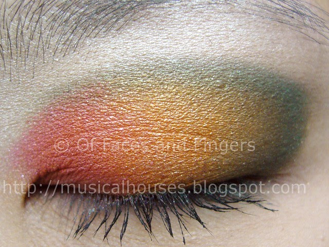 sleek curacao multicolour sunset eye look 1