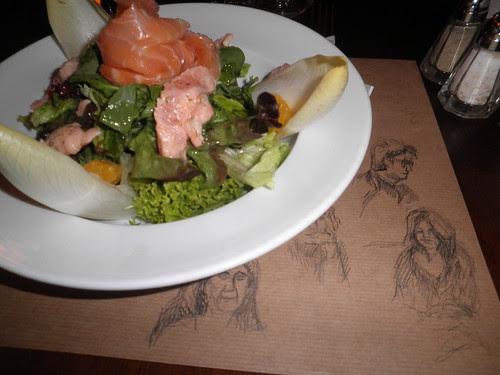 Sketching in Le Rouge, Beirut by travelingsuep