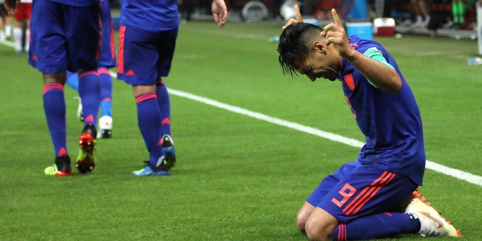 Celebración de la Selección Colombia contra Polonia.  Foto: Mauricio Moreno / CEET