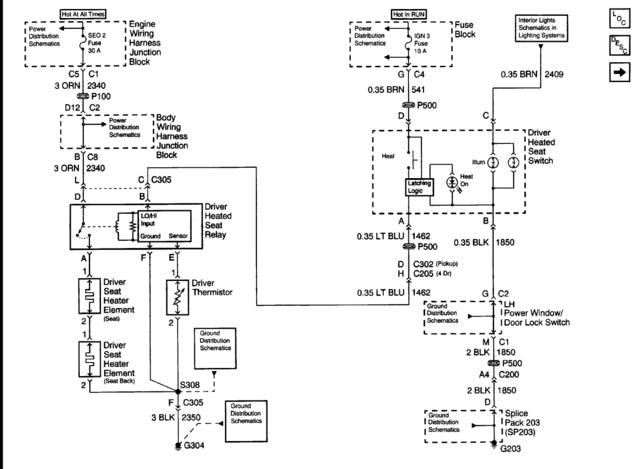 Wiring Diagram For Power Seats And Heaters The 1947 Present Chevrolet Gmc Truck Message Board Network