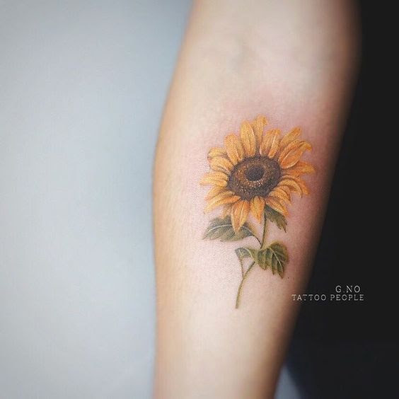 36 Mejores Tatuajes De Girasoles Y Su Significado