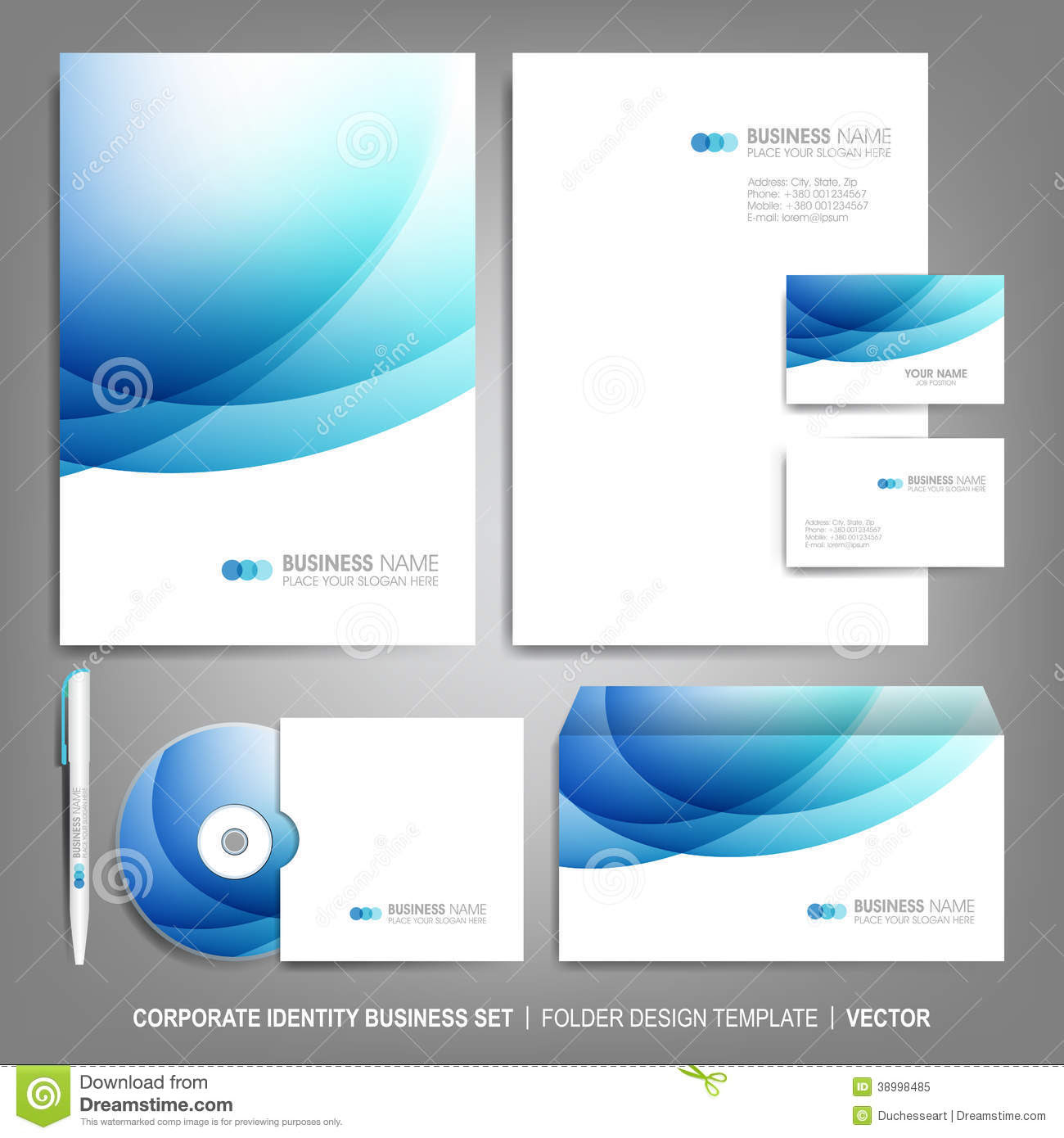 Corporate Identity Template For Business Artworks Stock ...