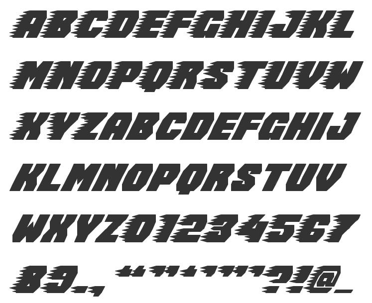 NEW FONT FREE RACING - Font