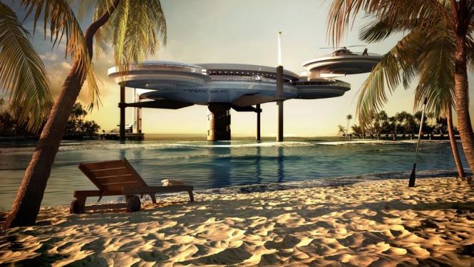 Offshore underwater Hotel