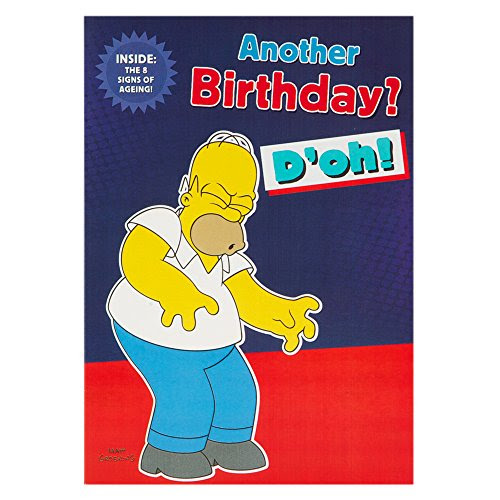 Hallmark The Simpsons Birthday Card For Him 8 Signs Of Ageing Medium 0