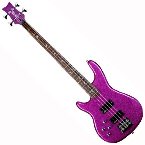 bass guitars daisy rock rock candy left handed bass guitar atomic pink. Black Bedroom Furniture Sets. Home Design Ideas