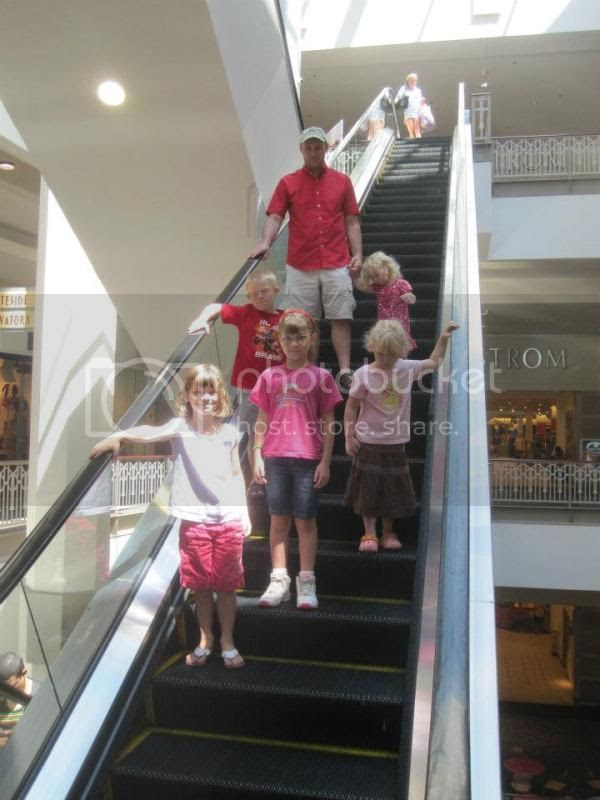 The real highlight of the day was riding the escalators at the Providence Place mall.