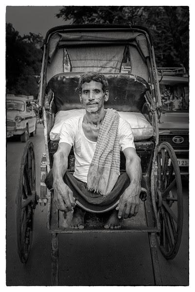 Rickshaw puller portrait