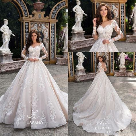 Designer Elegant Lace Applique Wedding Dresses 2019 Ball