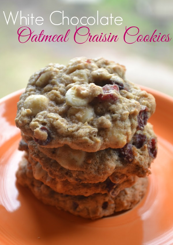 White Chocolate Oatmeal Craisin Cookies - The Domestic ...