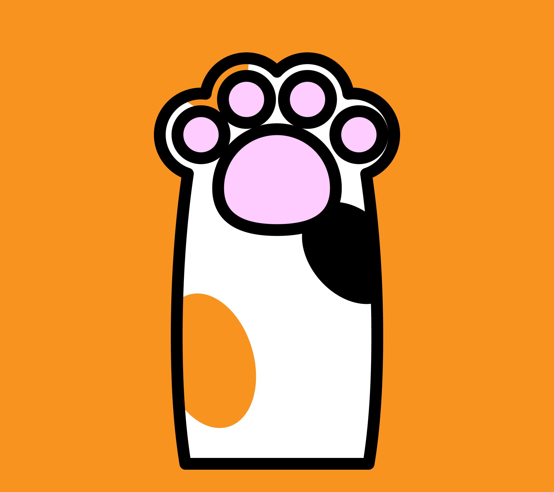 かわいい猫の手壁紙 Android の無料イラスト 商用フリー オイデ43